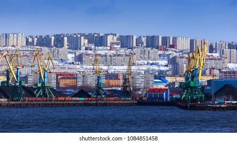 panoramic view Murmansk, Russia