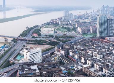 Panoramic view of Nanchang, the capital of Jianxi
