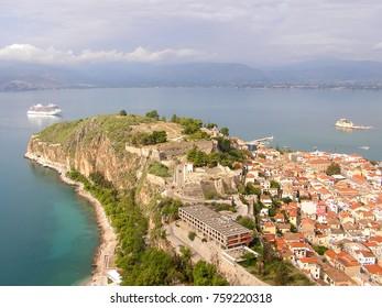 Panoramic view of Nauplio town. Greece