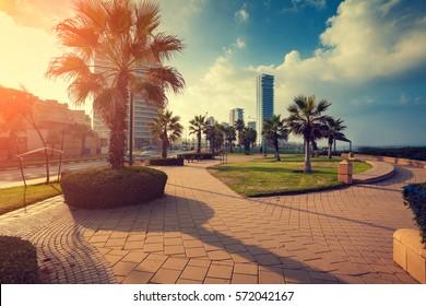 Panoramic view of Netanya city, Israel.