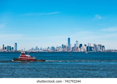 Panoramic view of New York City and New Jersey City