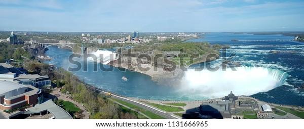 Panoramic View Niagara Falls Canada Side Stock Photo Edit Now 1131666965