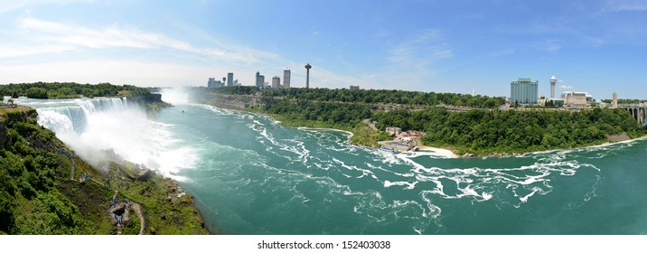 Panoramic view of Niagara Falls as seen from the USA side