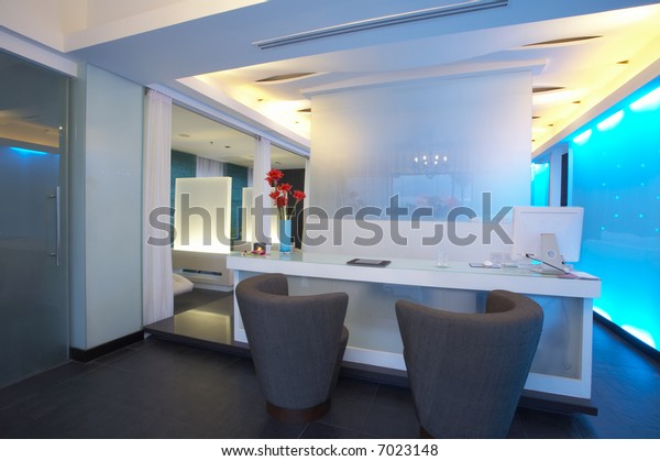 panoramic view of nice modern interior