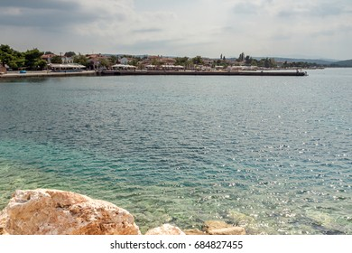Panoramic view of Nikiti Beach at Sithonia peninsula, Chalkidiki, Central Macedonia, Greece