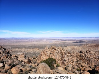 Panoramic view from the north side of Joshua Tree National Park, CA