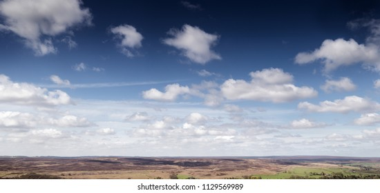 panoramic view of North York Moors in england