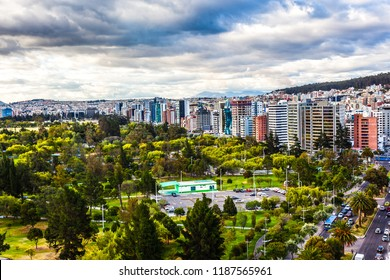 Panoramic view of the northern area of Quito, Carolina park