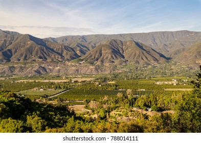Panoramic view of Ojai Valley before 2017 wildfires.