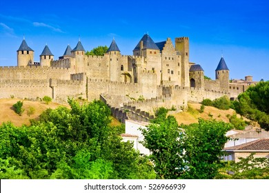 Panoramic view at the Old City of Carcassonne - France