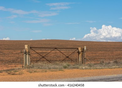 Panoramic view of old door of land at north of Western Australia, Australia