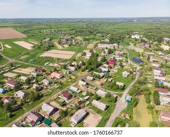 Panoramic view of the old Russian village on the island. Russia, Arkhangelsk region, Primorsky district