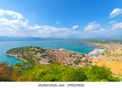 Panoramic view of the old town of Nafplio, Greece