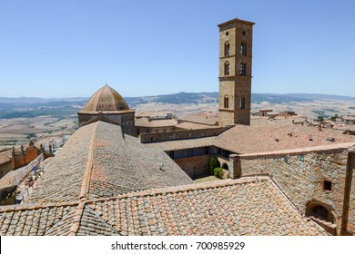 Panoramic view at the old town of Volterra on Tuscany, Italy