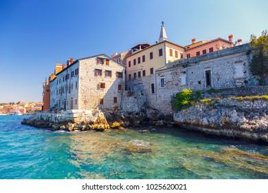Panoramic view at the old village of Rovinj Istria Croatia