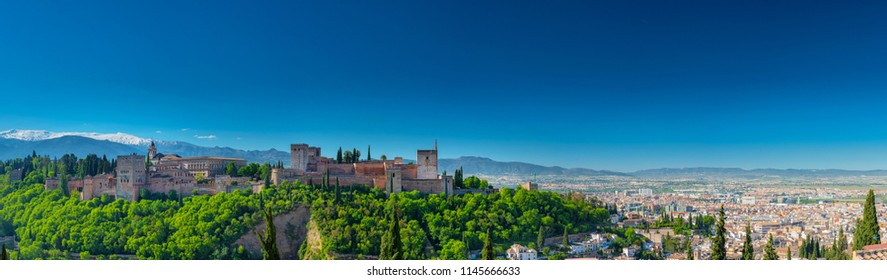 Panoramic view on Alhambra