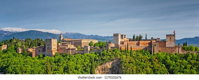 Panoramic view on Alhambra