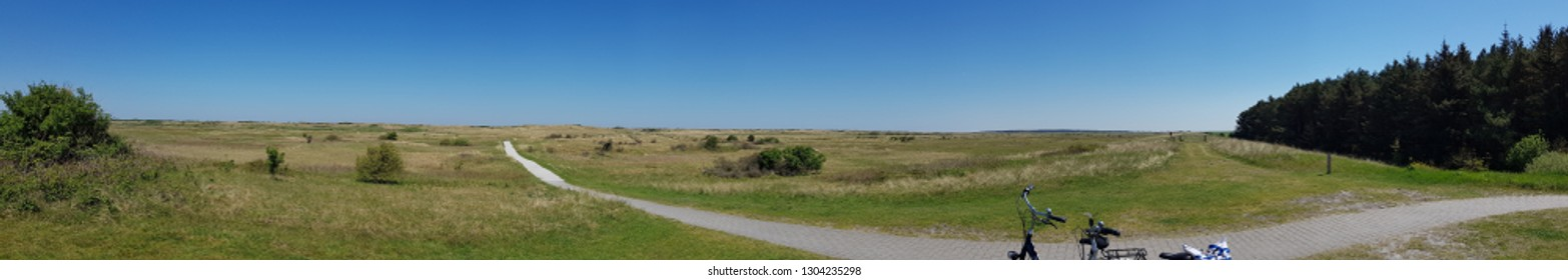 panoramic view on ameland