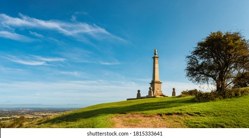 Panoramic view on the Aylesbury Vale from the Coombe Hill, England
