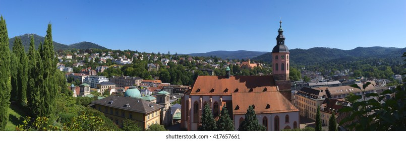 Panoramic view on Bade-Baden, Germany. Taken in Aug 2010.