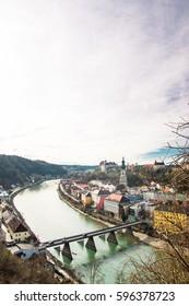 Panoramic view on Burghausen