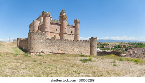 Panoramic view on Castle of Turegano, province of Segovia, Castile and Leon, Spain