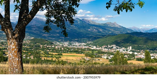Panoramic view on the city of Gap in Summer. Hautes-Alpes in the Southern French Alps. France - Shutterstock ID 2007955979