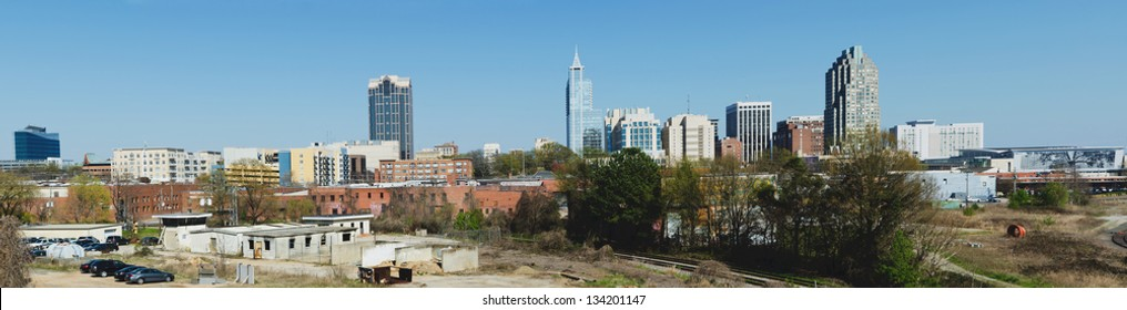 Panoramic view on downtown Raleigh, NC