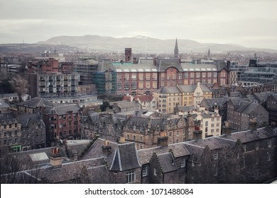 A panoramic view on Edinburg, Scotland