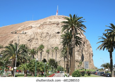 Panoramic view on El Morro hill in Arica, Chile.