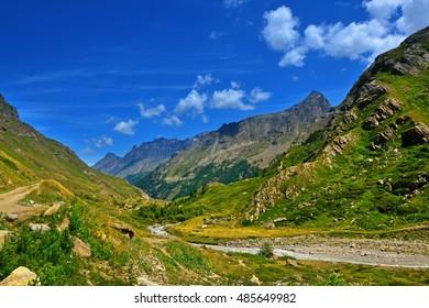 panoramic view on Gran Paradiso National Park