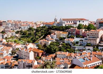 Panoramablick auf Lissabon, Portugal