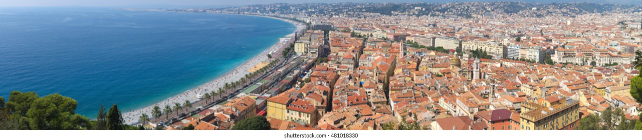 Panoramic view on old city of Nice, Cote d'Azure, France