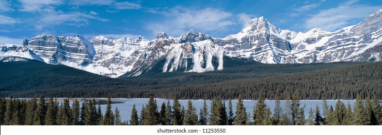 Panoramic view on Rocky Mountains,British Columbia,Canada