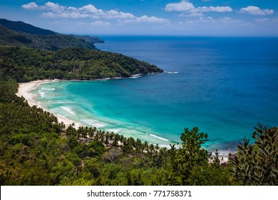 Panoramic view on Sabang beach, Puerto Princesa, Palawan island. Philippines .