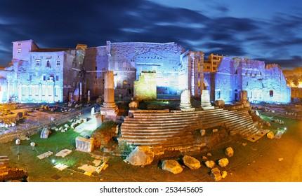 Panoramic view on Trajan's Market, Forum Romanum, Rome
