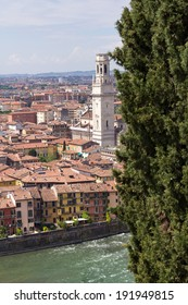 Panoramic view on Verona, Italy