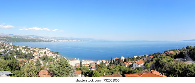 Panoramic view of Opatija bay, Croatia