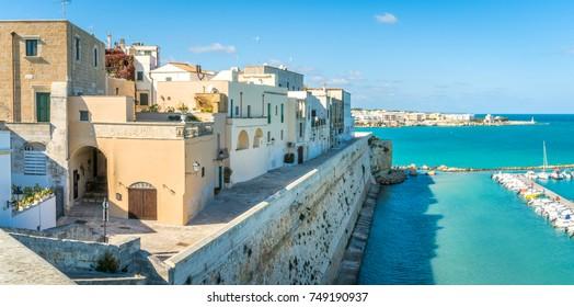 Panoramic view in Otranto, province of Lecce in the Salento peninsula, Puglia (Apulia), Italy.