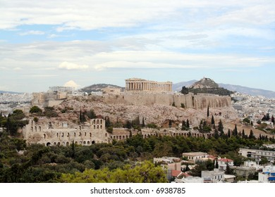 Panoramic view over the Acropolis