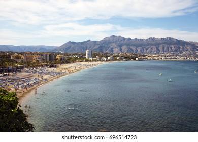 Panoramic view over Albir in Alicante, Spain. Albir is main tourist destination in Costa Blanca.