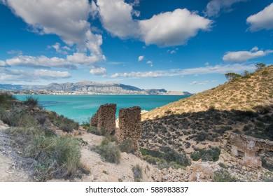 Panoramic view over  Albir in Alicante,Spain at sunny day. Albir is main tourist destination in Costa Blanca.