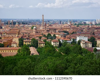 Panoramic view over Bologna, Italy