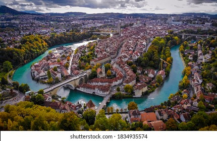 Panoramic view over the city of Bern - the capital city of Switzerland - travel photography