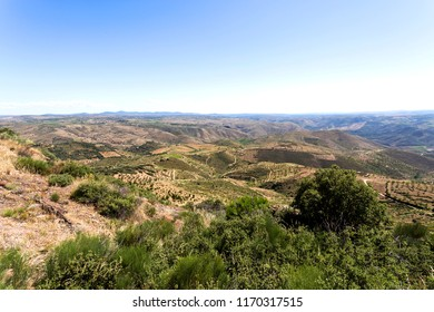 Panoramic view over the Coa Valley from the Chapel of St Gabriel near the historic village of Castelo Melhor