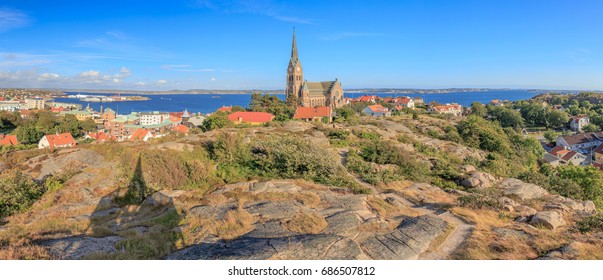 Panoramic view over Lysekil