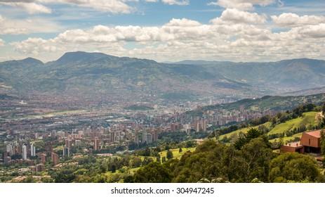 Panoramic view over Medellin, Colombia
