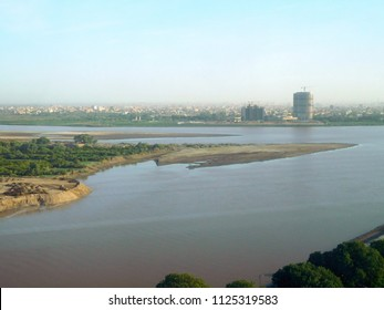 Panoramic view over Nile confluence in Khartoum