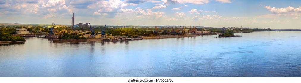 panoramic view over the Ruse city, Bulgaria