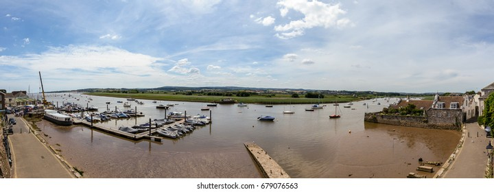 Panoramic view over Topsham Port, Exeter Devon England